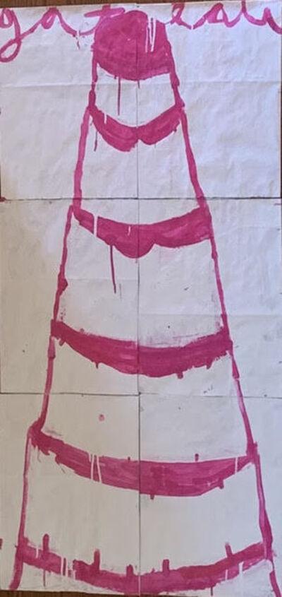 Gary Komarin, 'Cake Stacked: Bright Pink on White  ', 2018