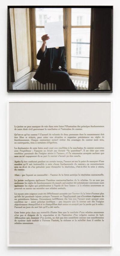 Sophie Calle, 'Juge / Judge, X - Prenez soin de vous', 2007