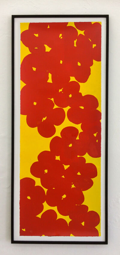 Donald Sultan, 'Red on yellow', 2018