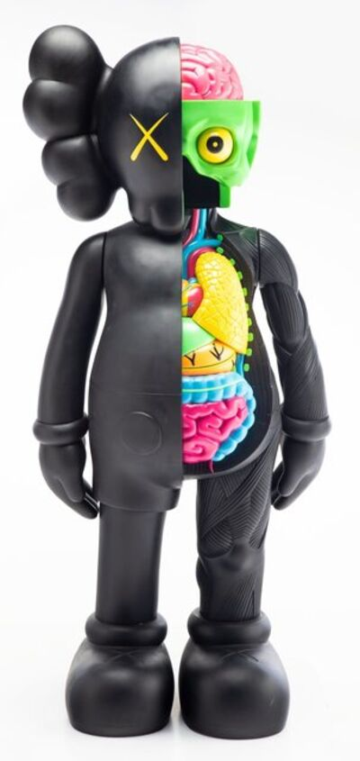 KAWS, '4FT Dissected Companion (Black)'
