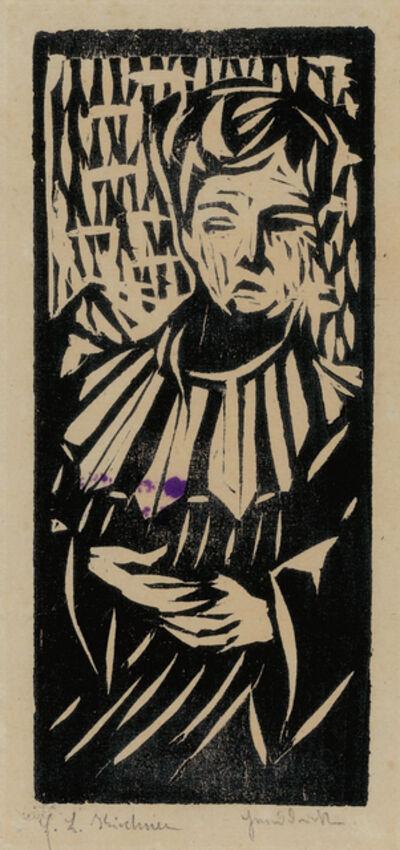 Ernst Ludwig Kirchner, 'Unschlüssiges Mädchen (Unconscious Girl)', 1906