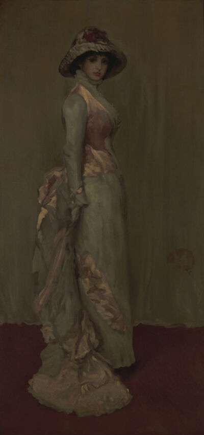 James Abbott McNeill Whistler, 'Harmony in Pink and Gray: Lady Meux', 1881