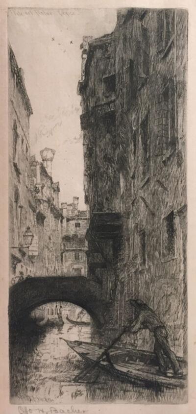 Otto Henry Bacher, 'Ponte del Pistor, Venice'