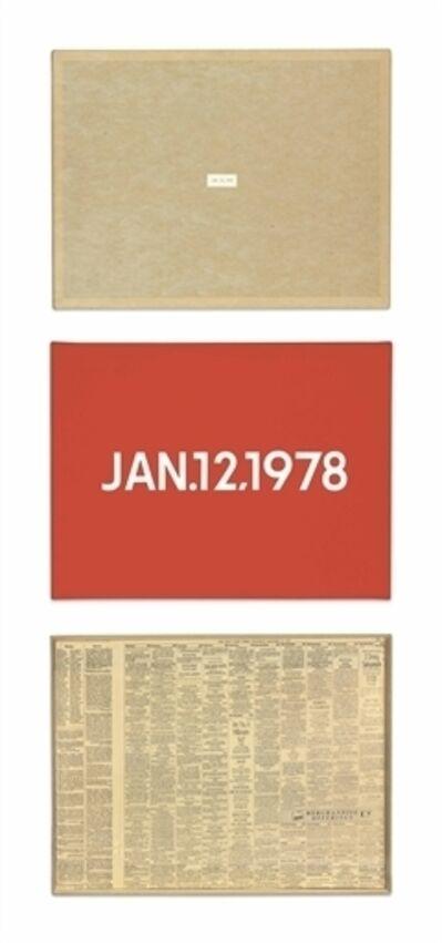 On Kawara, 'JAN. 12, 1978'