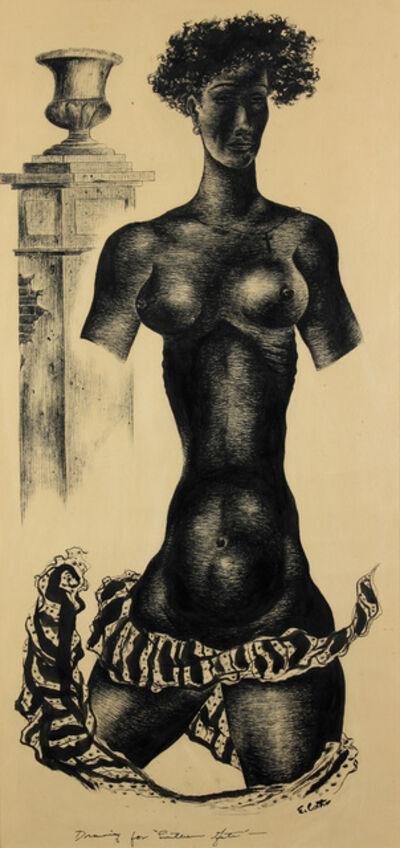 "Eldzier Cortor, 'Drawing for ""Lantern Gate"" (Southern Gate)', 1942-1943"