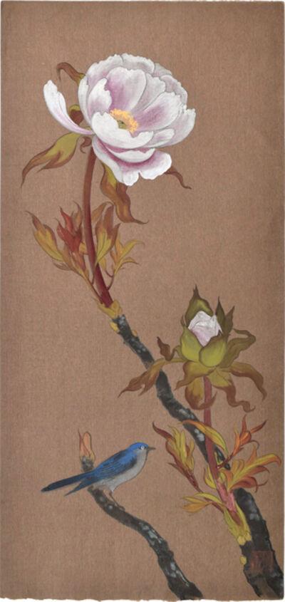 Kakunen Tsuruoka, 'Blue Bird and Blossomng Tree Peony', ca. 1920s