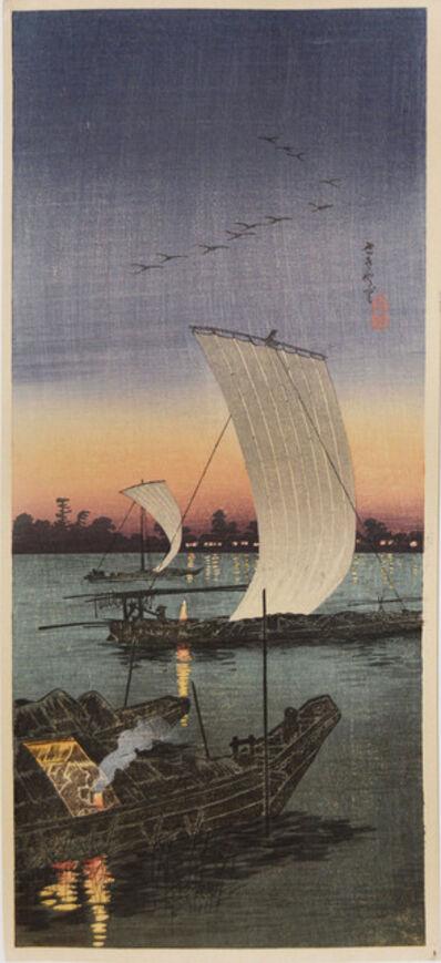 Hiroaki Takahashi (Shotei), 'Sekiyado', ca. 1925