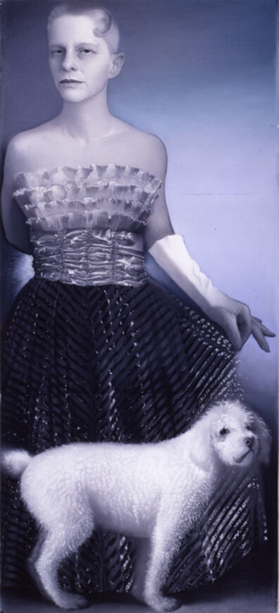 Susan Hauptman, 'Silver Self-Portrait with Dog', 1999