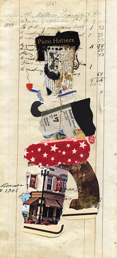 Ben Schonzeit, 'Mr. Livingston (Paris Hatters), Mix Media Collage Series', 2015
