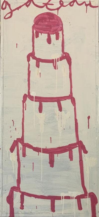 Gary Komarin, 'Cake Stacked: Bright Pink on White', 2018