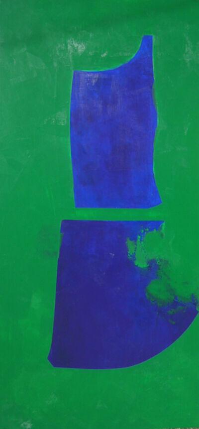 Carolina Convers, 'Figure Blue on Green', 2014