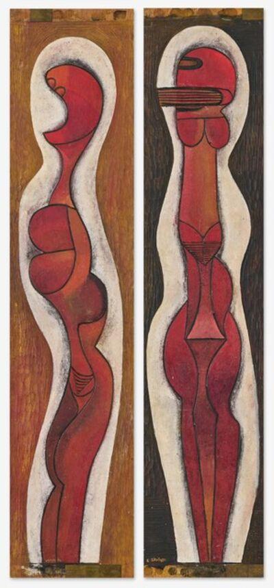 Cecil Skotnes, 'Totems (diptych)', ca. 1987