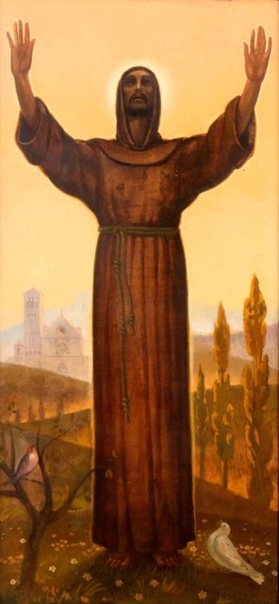 Pippi Starace, 'Saint Francis', Mid 1900