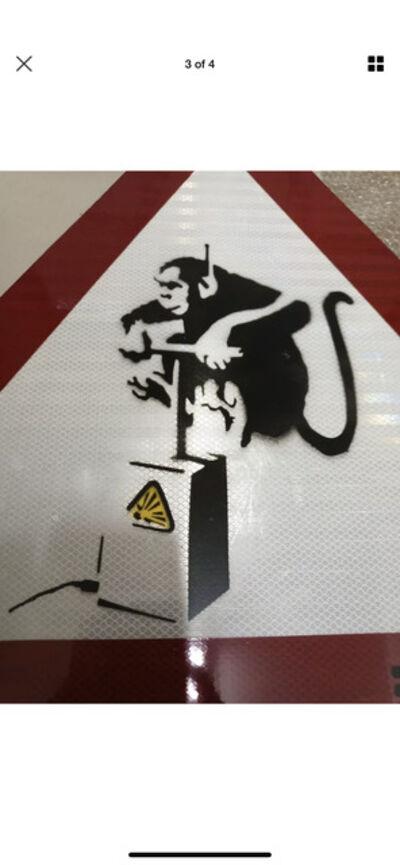 Banksy, 'BANKSY ORIGINAL WORK OF ART, MONKEY DETONATOR', 2009