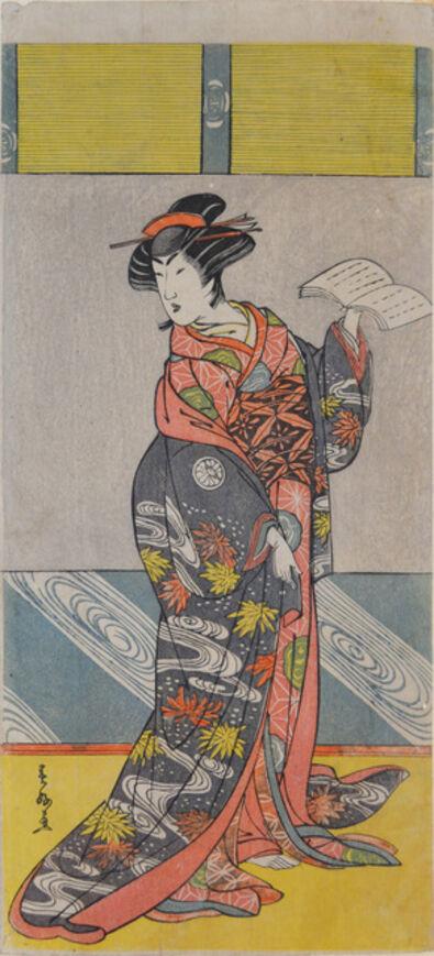 Katsukawa Shunko, 'Kabuki Actor Segawa Kikunojo III', ca. 1780