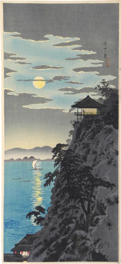 Hiroaki Takahashi (Shotei), 'Moon at Ishiyama', ca. 1924-27