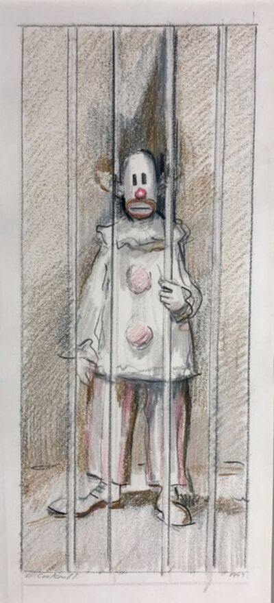 Mike Cockrill, 'Jailed Clown/White Costume', 1997