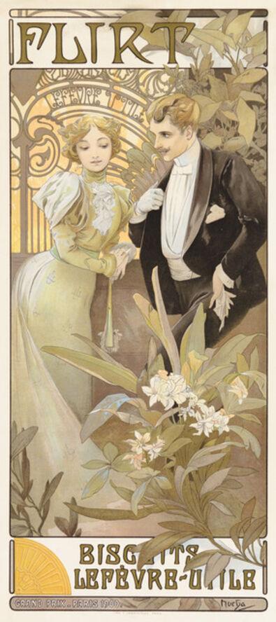 Alphonse Mucha, 'Flirt Biscuits', 1899