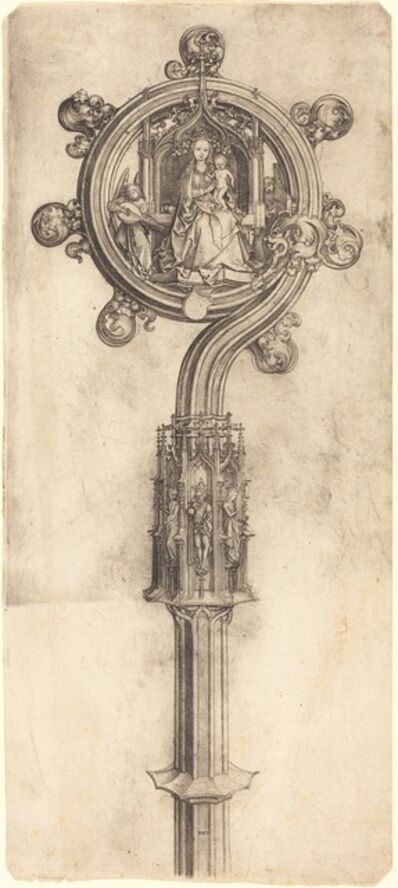 Martin Schongauer, 'A Bishop's Crosier', ca. 1475/1480