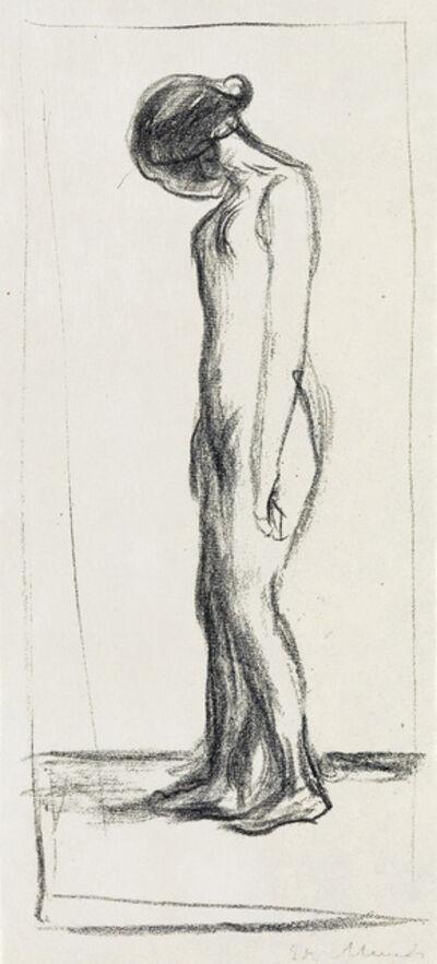 Edvard Munch, 'Gråtende Akt.', 1908