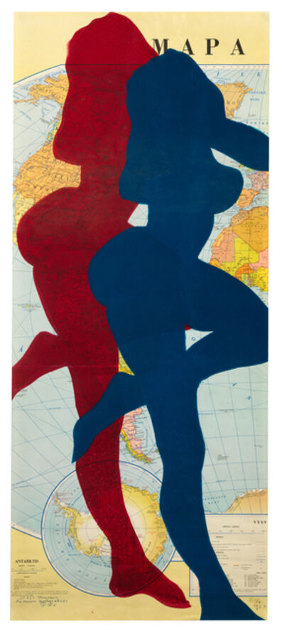Stano Filko, 'Map of the World (Woman)', 1967