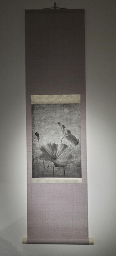 Kenji Wakasugi, 'The Moon at Dawn  (Printed on Japanese washi paper and mounted on a scroll)', 2017