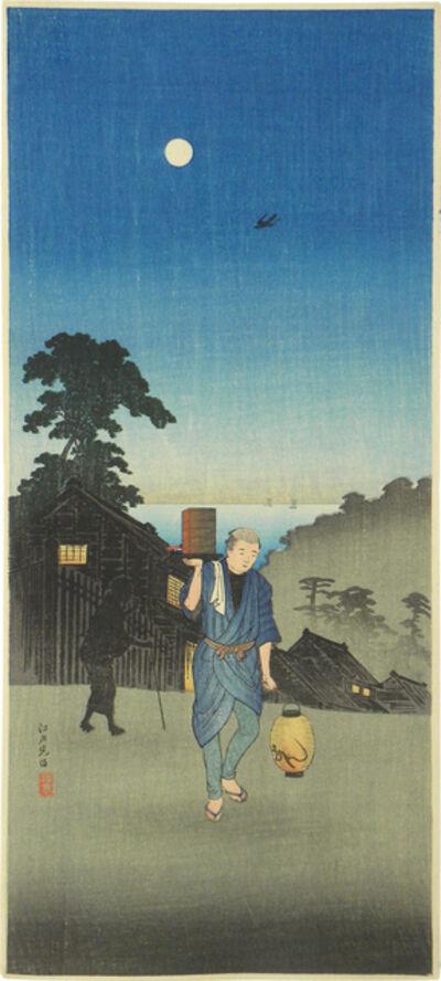 Hiroaki Takahashi (Shotei), 'Edo-view Hill', ca. 1924-27