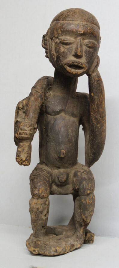Unknown Lobi, 'Lobi Burkina Faso Seated Male Figure', Early 20th Century