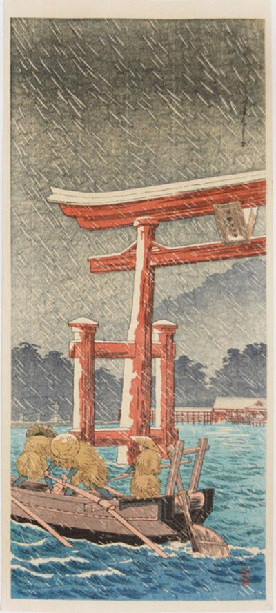 Hiroaki Takahashi (Shotei), 'Itsukushima in Snow', ca. 1939