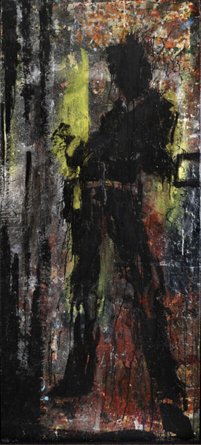 Richard Hambleton, 'Standing Shadow - Yellow & Red', 2018