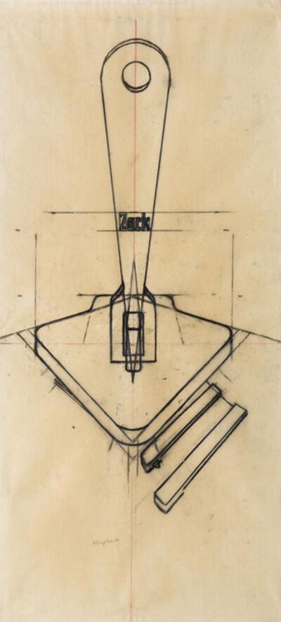 Konrad Klapheck, 'Reissverschluss - Fermeture éclair', 1974