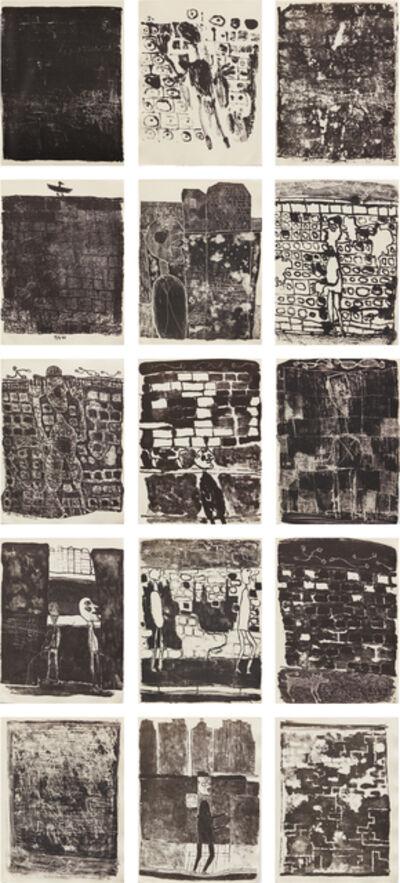 Jean Dubuffet, 'Les murs (The Walls): 12 poèmes de Guillevic', 1945