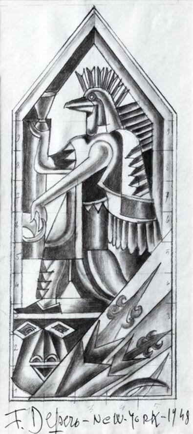 """Fortunato Depero, 'Study for decorative panel for the restaurant """"Enrico e Paglieri"""", New York', 1948"""