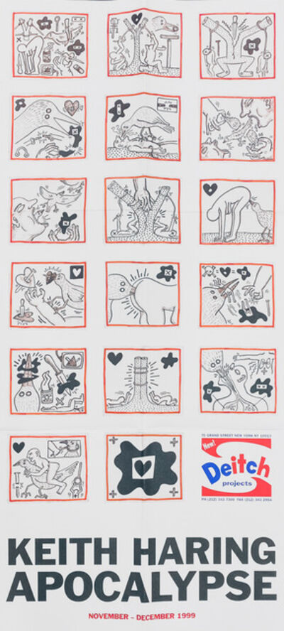 Keith Haring, 'Keith Haring Apocalypse exhibit poster ', 1999