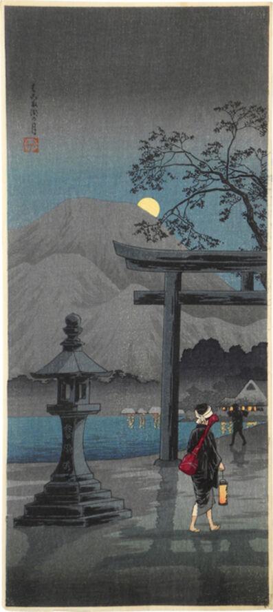 Hiroaki Takahashi (Shotei), 'Moon at Hakone Lake', ca. 1924-27