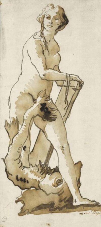 Giovanni Domenico Tiepolo, 'A sea nymph'