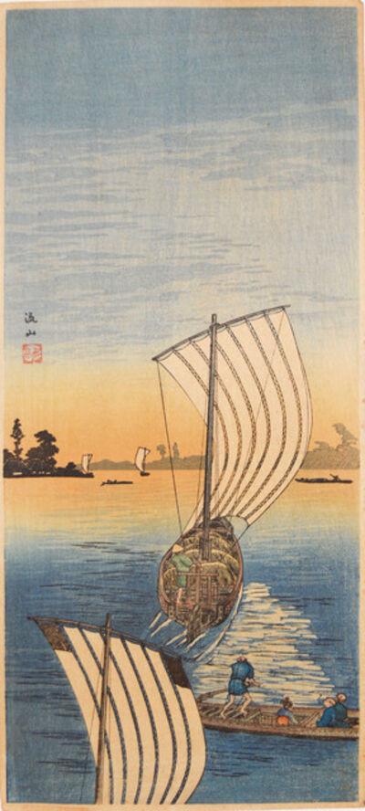 Hiroaki Takahashi (Shotei), 'Nagareyama', ca. 1932