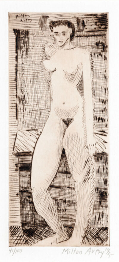 Milton Avery, 'Young Girl Nude', 1935