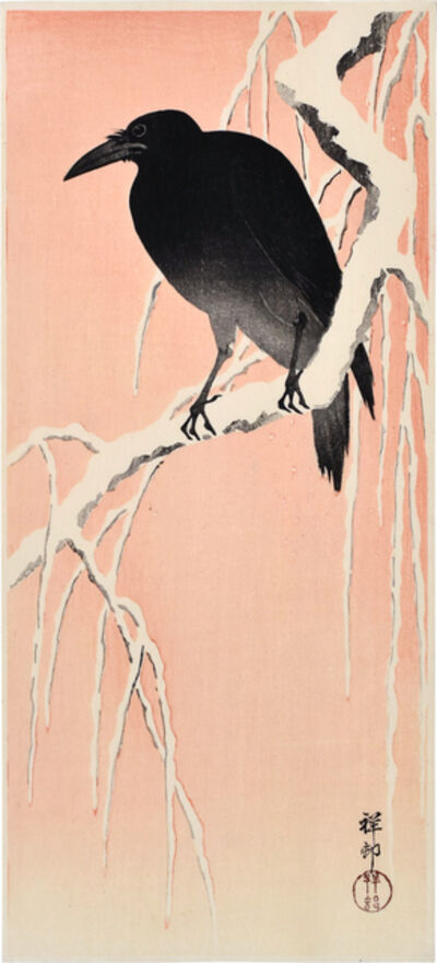 Ohara Koson, 'Crow on Snowy Branch', ca. 1930s