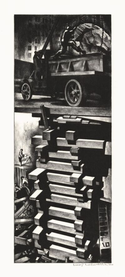 Louis Lozowick, 'Construction. (Excavation.) (New York City) (Building the Subway)', 1930