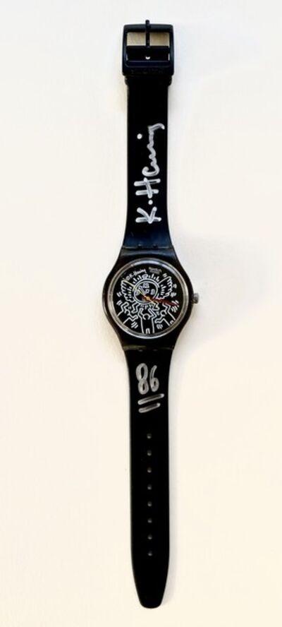 Keith Haring, 'Blanc sur Noir (GZ104) watch', 1986