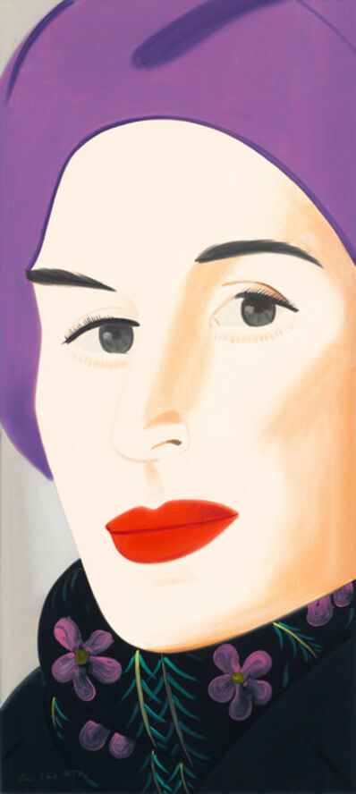 Alex Katz, 'Purple Hat (Ada),', 2017