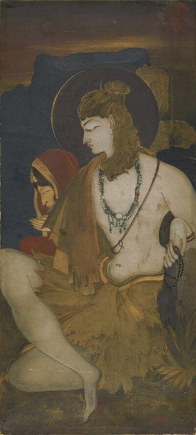 Kshitindranath Majumdar, 'Untitled (Shiv and Parvati)', ca. 1920