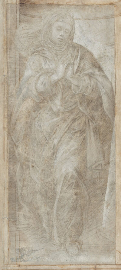 Filippino Lippi, 'Standing Woman with Her Hands Clasped in Prayer', ca. 1488