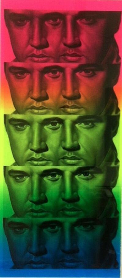 Ron English, 'Rainbow Elvis II', 2012