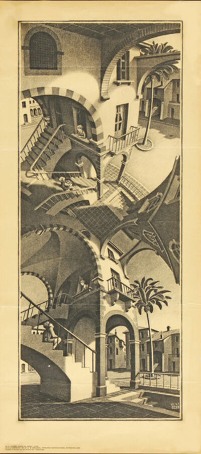 Maurits Cornelis Escher, 'Boven en Onder, HOLIDAY SALE $150 OFF THRU MAKE OFFER', 1970