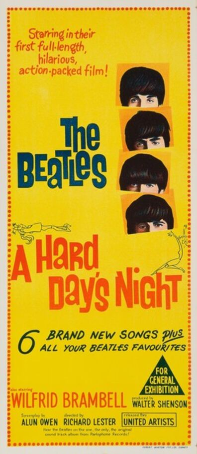 Film Poster, 'A Hard Day's Night', 1964