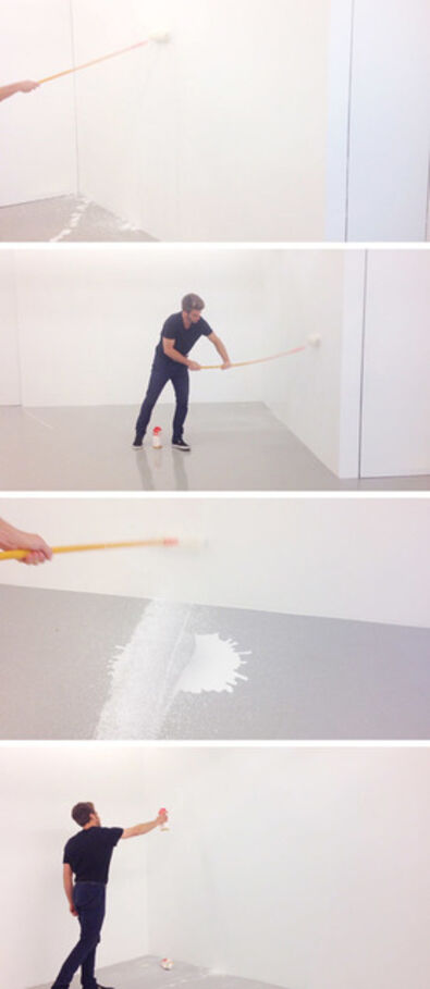 Jeremy Everett, 'Painting a room with milk', 2014