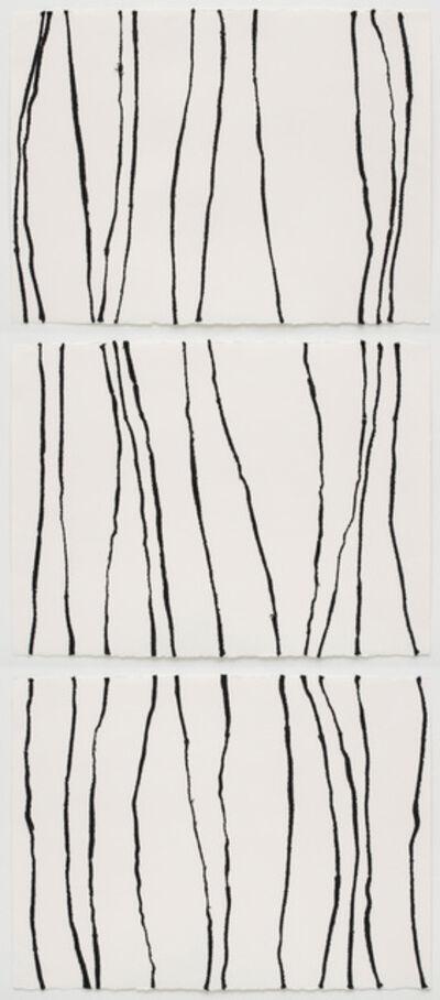 Brenda Mallory, 'Warm Lines 1,2,3 (triptych) ', 2014