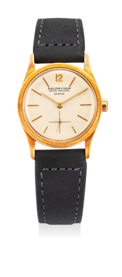 Patek Philippe, 'A rare yellow gold wristwatch, retailed by Black, Starr & Gorham', 1960